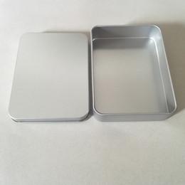 Wholesale Jewelry Box Up - Free Shipping + Wholesale Plain Silver Tin Box Rectangle Tea Candy Box Make Up Organizer Jewelry Boxes