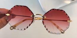 Design redondo de embalagens on-line-Luxo 143 Óculos De Sol Para As Mulheres Deisnger Rodada Moldura Completa UV400 Lens Verão 132 Estilo Hexágono Quadro Design Clássico Vem Com pacote