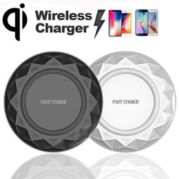 Wholesale Wireless Charge Pad - Diamond Fast Qi Wireless Charging 9V Charger Dock Pad For iPhone X Samsung S6 S7 Edge S8 Plus Note5 8