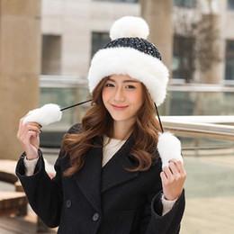 coreano, boné, moda, femininas Desconto Outono e Inverno Quente Cap Feminino Versão Coreana da Moda Princesa Doce Boné De Malha Adorável Senhora Lã Bola De Lã Grossa