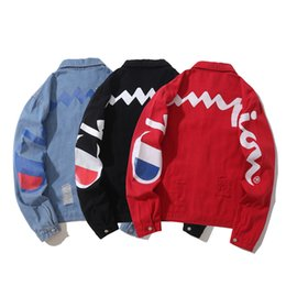 Tyga kleidung online-Mens Demin Jacke Hip Hop Kanye West Tyga Hype Männlich Outwear Mäntel Destored Trend Marke Kleidung Tops