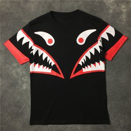 Wholesale Ape Clothing - Japanese styles A APE Brand Big mouth Reflective Clothing T-shirts Men Women Fashion printing High Quality Hip Hop Cotton male Short sleeve
