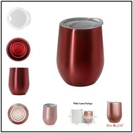 Mantenga el vaso frío Copa de huevos de 9 oz con tapa 304 Copa de vino de acero inoxidable Frascos termo Tazas de café Botellas de agua desde fabricantes
