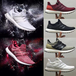 Wholesale Yellow Canvas Shoes Men - Limitied Sale Ultra Boost 3.0 4.0 Triple Black White Men Women Running Sports Shoes UB 3.0 4.0 Quality Sneaker
