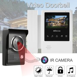 Wholesale touch video intercom system - KKmoon 4.3'' Touch Screen Wired Video Door Phone System Visual Intercom Doorbell 700TVL Outdoor Infrared Camera Night Vision