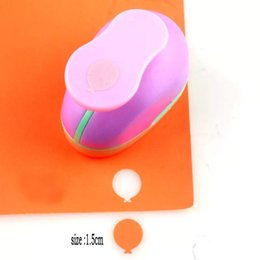 2019 дыроколы для ремесел 1.5cm-4.9cm воздушный шар формы пены Punch Diy Craft Punch Hole Puncher Scrapbook Бумага Cutter Hole Cortador Papel Scrapbooking дешево дыроколы для ремесел