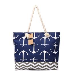 a4e5228093 anchor beach bags UK - Women Bag Large Capacity Handbags Large Capacity  Canvas Tote Bags Navy