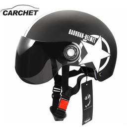 2019 hot-pink-fahrräder Motorrad Helm halb offenes Gesicht einstellbare Größe Schutz Getriebe Kopf Helme Unisex fünfzackigen Stern schwarz rot neueste