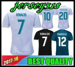 Wholesale Madrid Soccer Jerseys - Thailand 17 18 Real Madrid soccer jersey 2018 jerseys RONALDO Asensio SERGIO MODRIC RAMOS MARCELO BALE ISCO football shirts