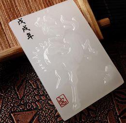 Ciondolo Fortuna di Giada bianca naturale di Giada Guan Gong Zhongyi Qianqiu da ciondolo giada asiatico fornitori