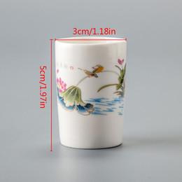 2019 ciotole di porcellana bianco Bone China tazze da tè porcellana bianca delicato piccolo Kung Fu Tea Set tazza di tè in ceramica dipinta a mano liquore caffè tazza da tè D055 ciotole di porcellana bianco economici