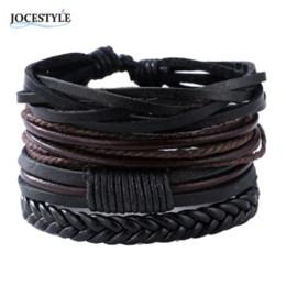 Bracelets pour copines en Ligne-Bracelets Bracelets mens bracelets en cuir 2018 Pulseira Masculina Bijoux Charme Bileklik Pulseiras copain petite amie en gros