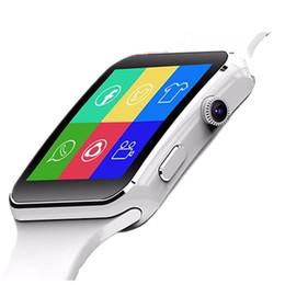 relógio pedômetro bluetooth para crianças Desconto Bluetooth smart watch x6 smartwatch pedômetro dispositivos wearable para android phone com câmera suporte sim tf cartão pk y1 v8
