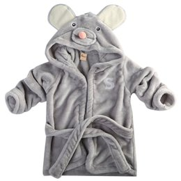 Wholesale Mouse Cartoon Baby - Baby Boy Girl Winter Robes Clothing baby kids Hooded Animal Panda Rabit Mouse Cloak Bathrobe Cartoon infant bath towel