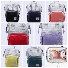 Wholesale Brand Maternity - fashion Mummy Maternity Bag Brand Large Capacity Baby Bag Mummy backpack Mama bag Diaper Nursing bags KKA4133