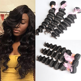 12 inch wavy hair extensions Promo Codes - Brazilian More Wavy Loose Deep Curly Unprocessed Human Virgin Hair Weaves 8A Quality Remy Human Hair Extensions Dyeable 3bundles lot
