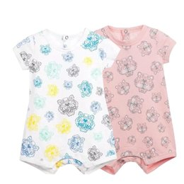 Wholesale Cartoon Animal Cotton Baby Rompers - New baby rompers Newborn Infant Baby Boy Girl Summer clothes Cute Cartoon Printed Romper Jumpsuit Climbing Clothes
