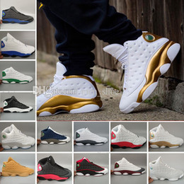Wholesale d fur - Wholesale Cheap 13 XIII Wheat Men DMP Basketball Shoes 13s Black Cat Chicago Elevation Cultivation He Has Game Love Respect Sneakers 8-13