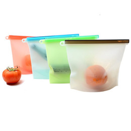 Wholesale Freezer Bags - Silicone Food Bag Reusable Airtight Seal Food Storage Container Reusale Freezer Leak-Proof Cooking Ziploc Bag Versatile Kitchen Utensil