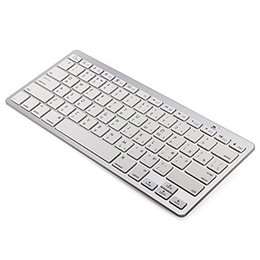 keys russian Coupons - Russian Bluetooth V3.0 Keyboard Ultra Slim Wireless Keyboard 78-Key for Windows PC Android iOS Smartphone Tablet - Silver