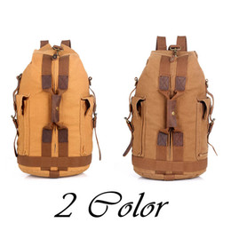 Wholesale vintage casual canvas backpack - Canvas Backpack Vintage Canvas Backpack Hiking Daypacks Backpacks Unisex Casual Rucksack Satchel Bookbag Mountaineering Bag for Men G168S