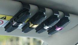 Porte-lunettes en fibre de carbone Lunettes de soleil Clip Porte-cartes de voiture Pince à papier Accessoires de voiture ? partir de fabricateur