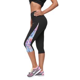 Wholesale Plus Size Capri Leggings - Women's Leggings Plus Size Print Patchwork High Waisted Fitness Capri Workout Leggings Leisure Exercise Stretch Legging Pants
