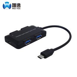 ordinateurs portables notés Promotion weiyee USB 3.1 Type C à 4 ports USB 3.0 haute vitesse Hub taux de transfert de soutien jusqu'à 5 Gbps pour ordinateur portable MacBook Mac