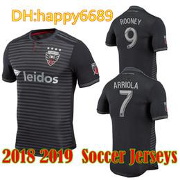588065b10 18 19 DC United Soccer Jersey 2019 MLS Home Black  9 ROONEY Soccer Shirts  ACOSTA HARKES ARRIOLA STIEBER Football Uniform