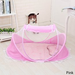 Wholesale Foldable Baby Mosquito Net Tent - Portable Baby Crib Mosquito Net Tent Multi-Function Cradle Bed Infant Foldable Mosquito Netting For Girls Bed