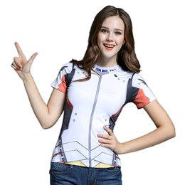 Wholesale Over Shirt Women S - Game OWT Watch Over tshirt Tracer DVA Widowmaker Mercy Cos T Shirt Costume Cosplay Style Clothing