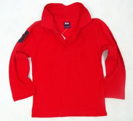 Nouveaux Enfants T-shirt classique pour enfants Marque T-shirts Vêtements Garçons Filles Tops T-shirts en Coton Unicolores Polo Garçons Polo à manches longues t-shirt 0001 ? partir de fabricateur