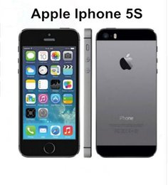 Wholesale Gold 5s - Original Unlocked Apple iPhone 5S without fingerprint iphone 5s phone 16GB   32GB   64GB ios refurbished