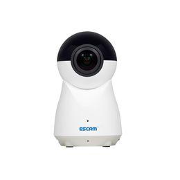 ESCAM QP720 IP-камера H. 265 1080P 720 градусов панорамный WiFi монитор младенца ИК Motion Alarm видео аудио запись Обнаружение движения supplier escam ip camera от Поставщики escam ip camera