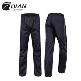 pantalones de montar al aire libre Rebajas 2015 nueva doble capa más gruesa impermeable al aire libre cortavientos motocicleta bicicleta impermeable Ride Rain Pants alta calidad