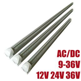 ampoules basse tension Promotion DC12V ampoule lampe basse tension DC36V T8 LED Tubes imput économiser économie Tube fluorescent DC24V V forme led lumières utilisé travailler avec batterie