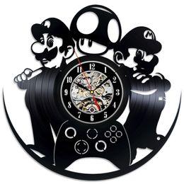 regalo fai-da-te per cambio orologio 2018 Mario Luigi Gioco Vinyl Record Clock Parete design unico Art Home Decor da decorazioni domestiche dei regali unici fornitori