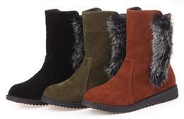 Deutschland Außenhandel große Größe Frauen Stiefel Fell eine warme Freizeit niedrige Stiefel flache Fell kurze Röhre Stiefel Versorgung