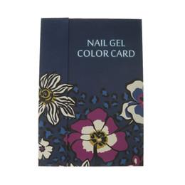 Cartes d'affichage papier en Ligne-180 couleurs vernis à ongles gel affichage livre graphique