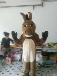 2019 mascote de burro 2018hot venda Donkey Mascot Costume Adulto Tamanho Masculino Donkey Carnaval Festa Xmas Cosply Kit Mascotte Terno mascote de burro barato