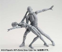 2019 jouet gros dauphin en peluche SHFiguarts BODY KUN / BODY CHAN body-chan body-kun Gris Couleur Ver. Modèle de jouet de collection de figurines d'action en PVC noir