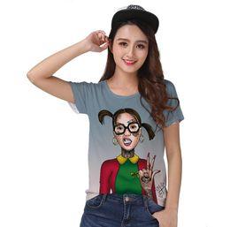 Wholesale women punk rock - Track Ship+New Vintage Retro T-shirt Top Tee Rock Punk Fashion Glasses Girl Love Dom Ramon Tattoo 1216