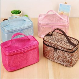 Wholesale Vintage Cosmetic Cases - new Vintage Cosmetic Bag Women Travel Make up Toiletry Bag of Makeup Case Organizer Accessories Ladies Pouch Toiletry Bag