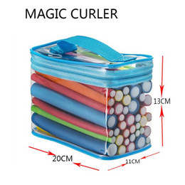 Wholesale Hair Rollers Curling Rods - At Fashion Bendy Rollers Flexi Rods 42pcs  Set 7 Styles Diy Hair Curling Rods Magic Hair Roller Soft Flex Rods For Hair dhl free shipping