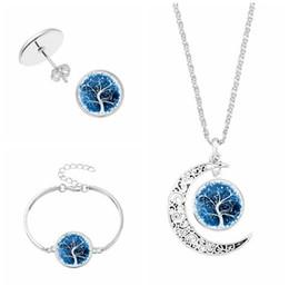 Wholesale metal jewelry tree - women's fashion sterling silver jewelry sets life tree necklace bangle set life tree bracelet necklace jewelry sets necklace earring bracele