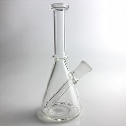 bong recycler 14mm Coupons - New 6 Inch Glass Rigs 14mm Female Straight Recycler Bongs Thick Pyrex Clear Mini Dab Beaker Bong for Glass Water Smoking Pipes