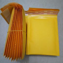Canada 2018Nouvelle adhésivité forte bulle de papier kraft jaune Enveloppes Sacs Accessoires de bijoux Mailing Packaging Supplies Sac de protection Offre