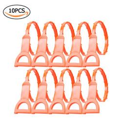 10 unids Tubo de Drenaje Tubería de Drenaje Limpiar Gancho Tubería Dispositivo de Dragado inodoro de cocina naranja tira de plástico herramienta desde fabricantes