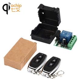 2019 drahtlose fernbedienung empfänger relais-modul QIACHIP 433 Mhz Universal Wireless Fernbedienung Schalter DC 12 V 1CH relay Receiver Modul und 2 stücke RF Sender Fernbedienungen günstig drahtlose fernbedienung empfänger relais-modul