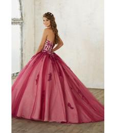 2019 vestidos de quinceañera cor rosa 2019 mais novo quinceanera vestidos querida vestidos de quinceaner lace apliques de tule vestido de baile prom dress doce 16 vestidos